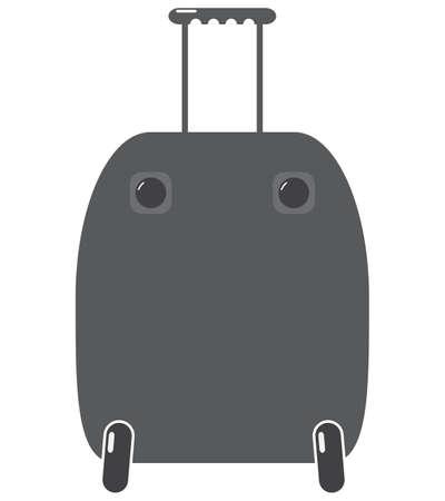 packing suitcase: Una valigia isolato su uno sfondo bianco