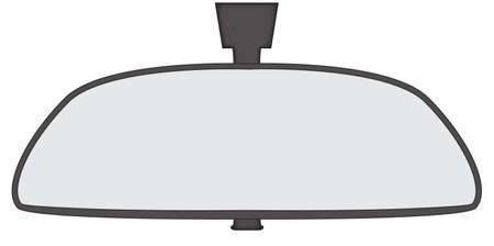rear view mirror: A car rear view mirror isolated on a white background