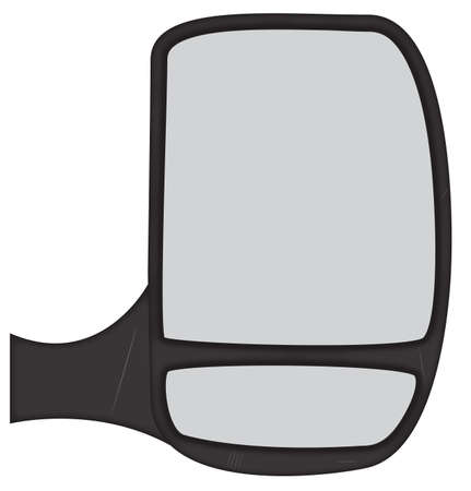 rear wing: A van side mirror isolated on a white background