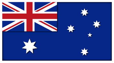 raise the white flag: An Australian flag design isolated on a white background