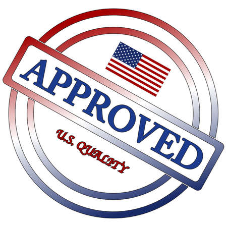 seal of approval: An American seal of approval isolated on a white background Illustration
