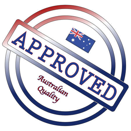 oceana: An Australian seal of approval isolated on a white background