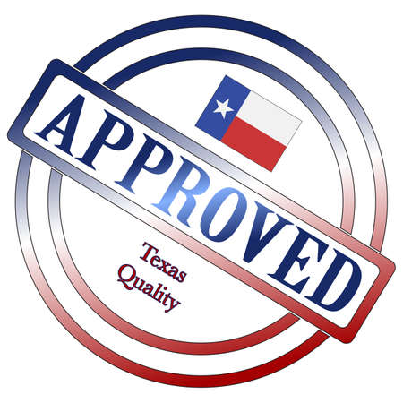 approval: A Texas seal of approval isolated on a white background
