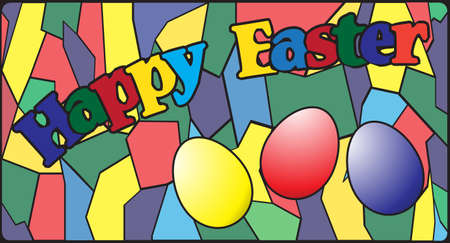 panes: An Easter stained glass window design