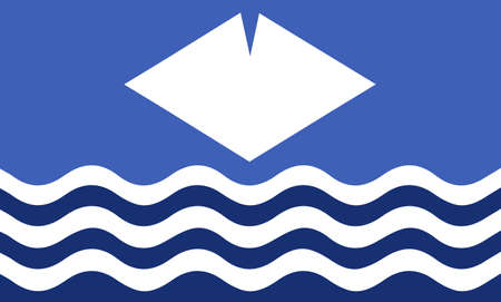 british isles: An Isle of Wight flag design Illustration