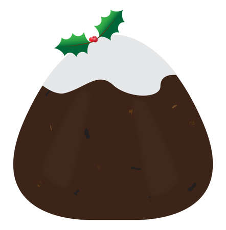 afters: A traditional Christmas pudding isolated on a white background