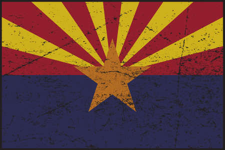 tatty: A grunged Arizona flag design Illustration