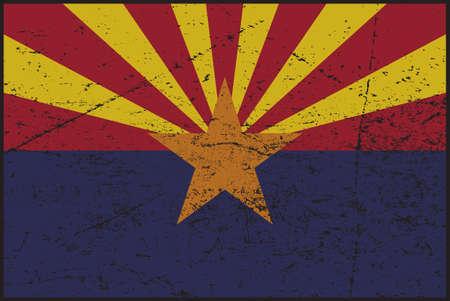 A grunged Arizona flag design Çizim