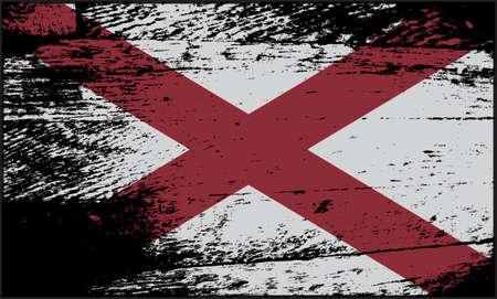 alabama state: A grunged Alabama state flag design