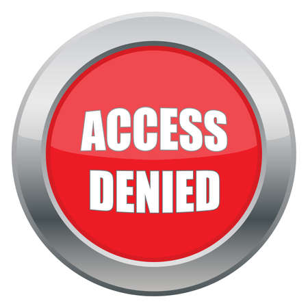 access denied icon: An access denied icon in red isolated on a white background