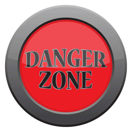 danger zone: A danger zone icon in blue isolated on a white background
