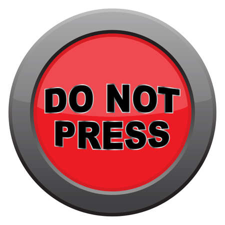 tungsten: A do not press icon isolated on a white background