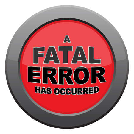 fatal: A fatal error icon isolated on a white background