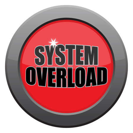 malfunction: A system overload icon isolated on a white background