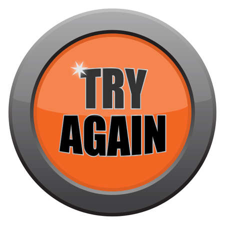 again: A try again icon isolated on a white background