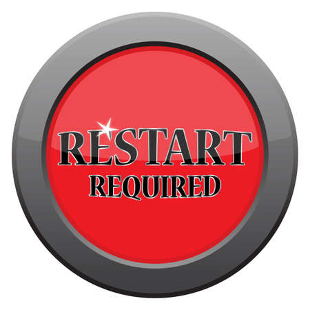 restart: A restart dark metal icon isolated on a white background