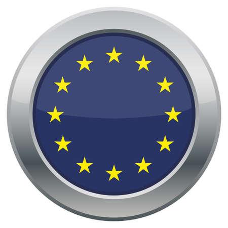 raise the white flag: An EU flag icon isolated on a white background