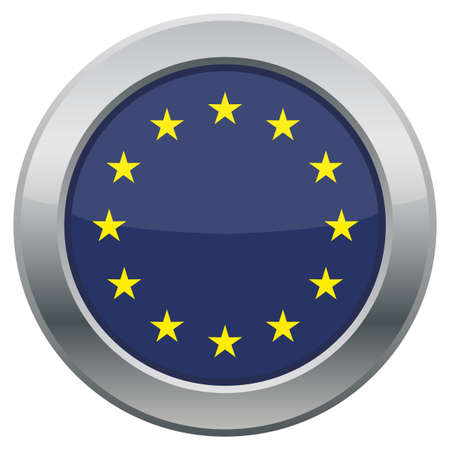 unite: An EU flag icon isolated on a white background