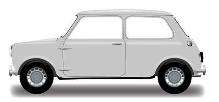 illsutration: A detailed small car isolated on a white background