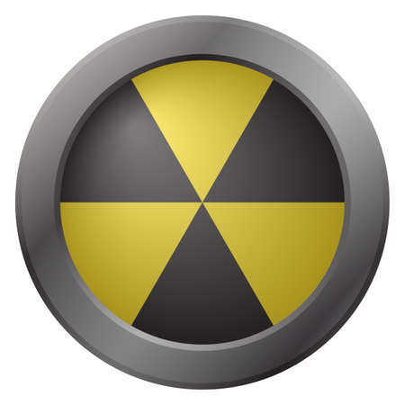 warning icon: A hazard warning icon isolated on a white background