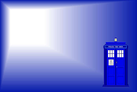telephone box: An old fashioned police telephone box background