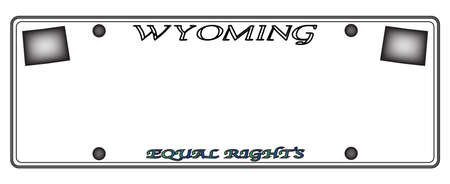 license plate: A Wyoming state license plate design isolated on a white background Illustration