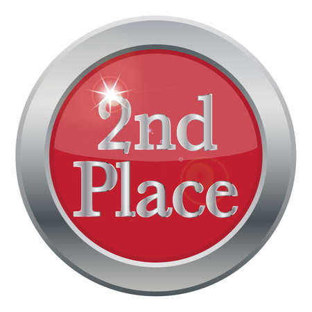 2nd: A 2nd place icon isolated on a white background