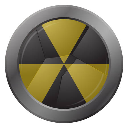 smashed: A smashed hazard warning icon isolated on a white background