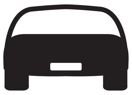 front wheel drive: A front of car silhouette design isolated on a white background