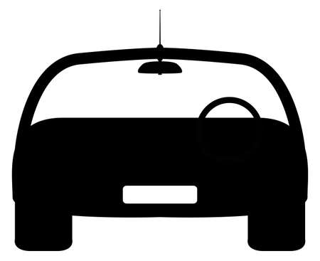 windscreen: A front of car silhouette design isolated on a white background