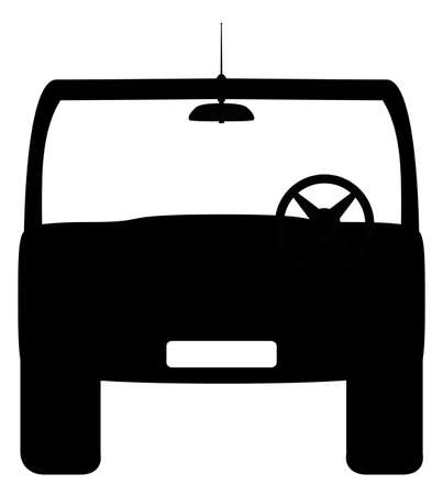 4x4: A front of 4x4 silhouette design isolated on a white background
