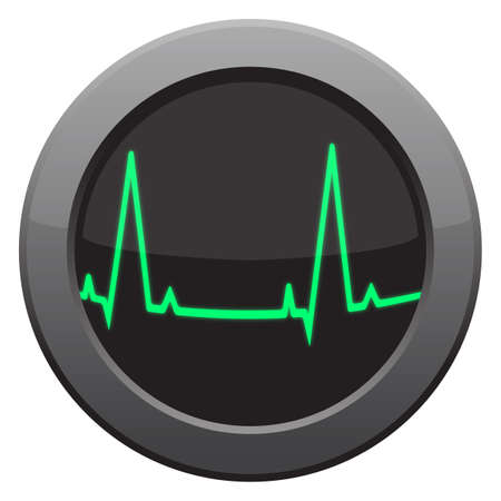 heart monitor: A heart rate monitor icon isolated on a white background