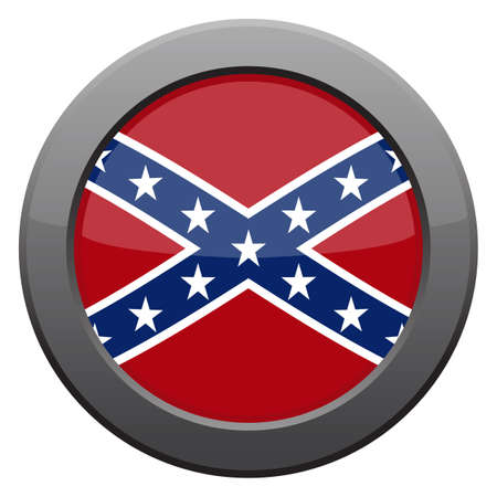 tungsten: A Confederate flag icon isolated on a white background Illustration