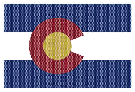 colorado flag: A Colorado state flag with white dots isolated on a white background