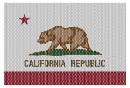 california coast: A retro looking California flag isolated on a white background