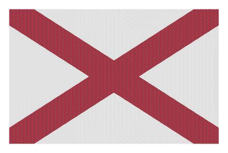 alabama flag: A retro looking Alabama flag isolated on a white background
