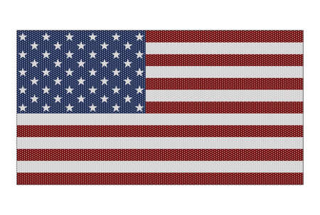 represent: A retro looking American flag isolated on a white background