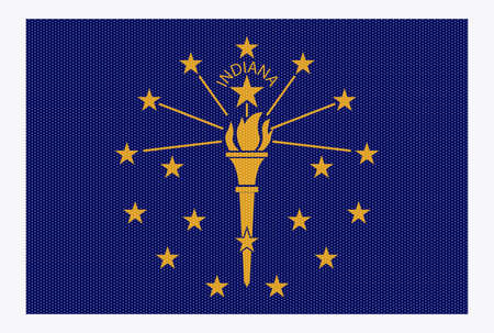 represent: A retro looking Indiana flag isolated on a white background Illustration