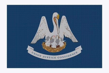 louisiana flag: A retro looking Louisiana flag isolated on a white background Illustration