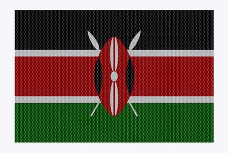 kenya: A retro looking Kenya flag isolated on a white background Illustration