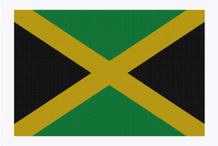 carribean: A retro looking Jamaica flag isolated on a white background