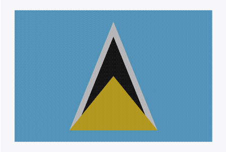 carribean: A retro looking st. lucia flag isolated on a white background