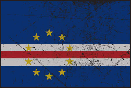 grunged: A grunged Cape Verde flag isolated on a white background