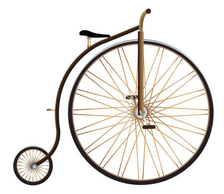 A realistic penny farthing vector isolated on a white background
