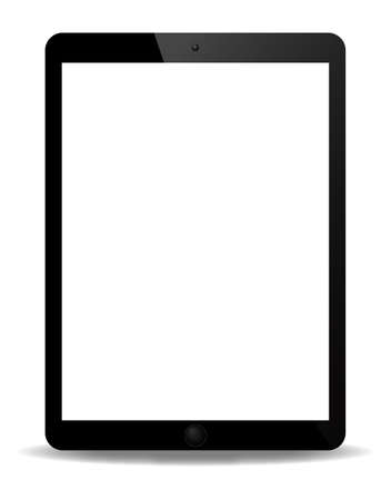 hand held computer: A realistic tablet screen isolated on a white background
