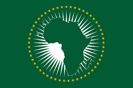 Een Afrikaanse Unie vlag ontwerp