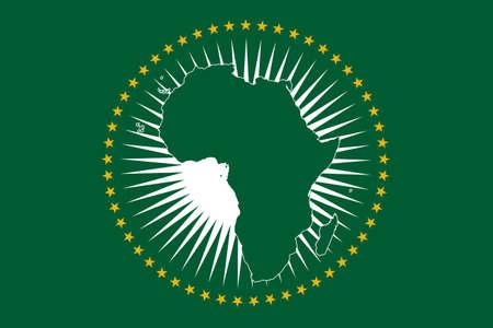 Un diseño de la bandera de la Unión Africana
