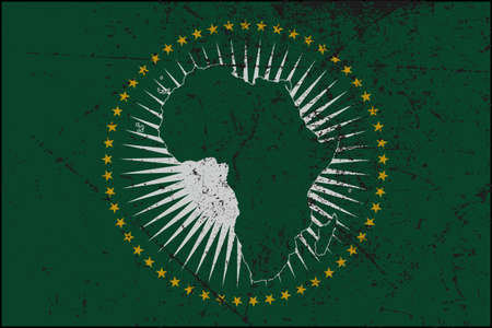 tatty: An Grunged African Union flag design
