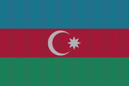 represent: A retro looking Azerbaijan flag design Illustration
