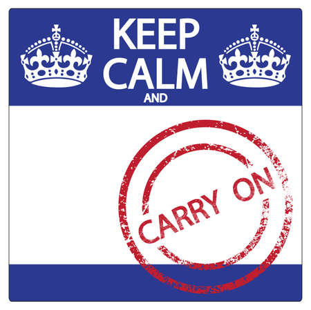 keep calm and carry on: A keep calm and carry on sticker and stamp isolated on a white background